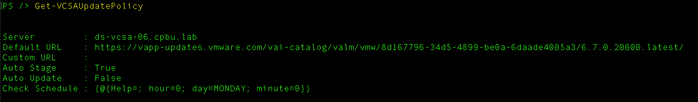 Patching the vCenter Server Appliance (VCSA) using the REST
