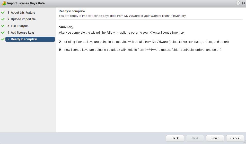 vSphere 6 5 - New License Import from My VMware