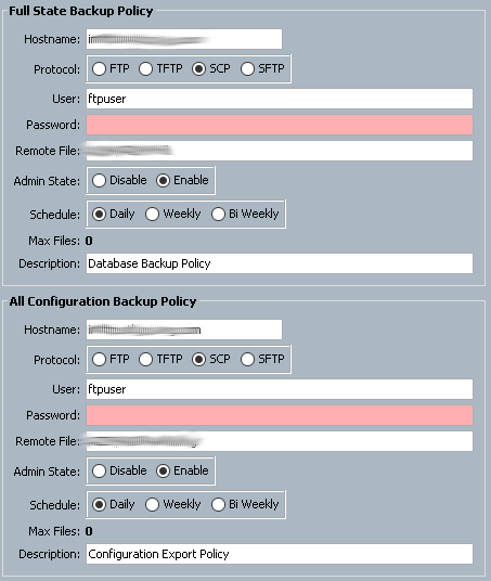 Using UCS PowerTool To Configure UCS Policy Backup and