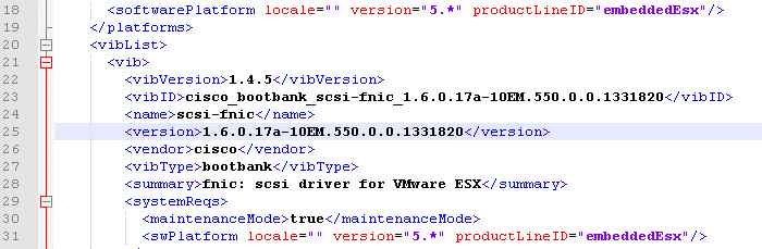 Troubleshooting Cisco ENIC and FNIC Drivers with VMware Update